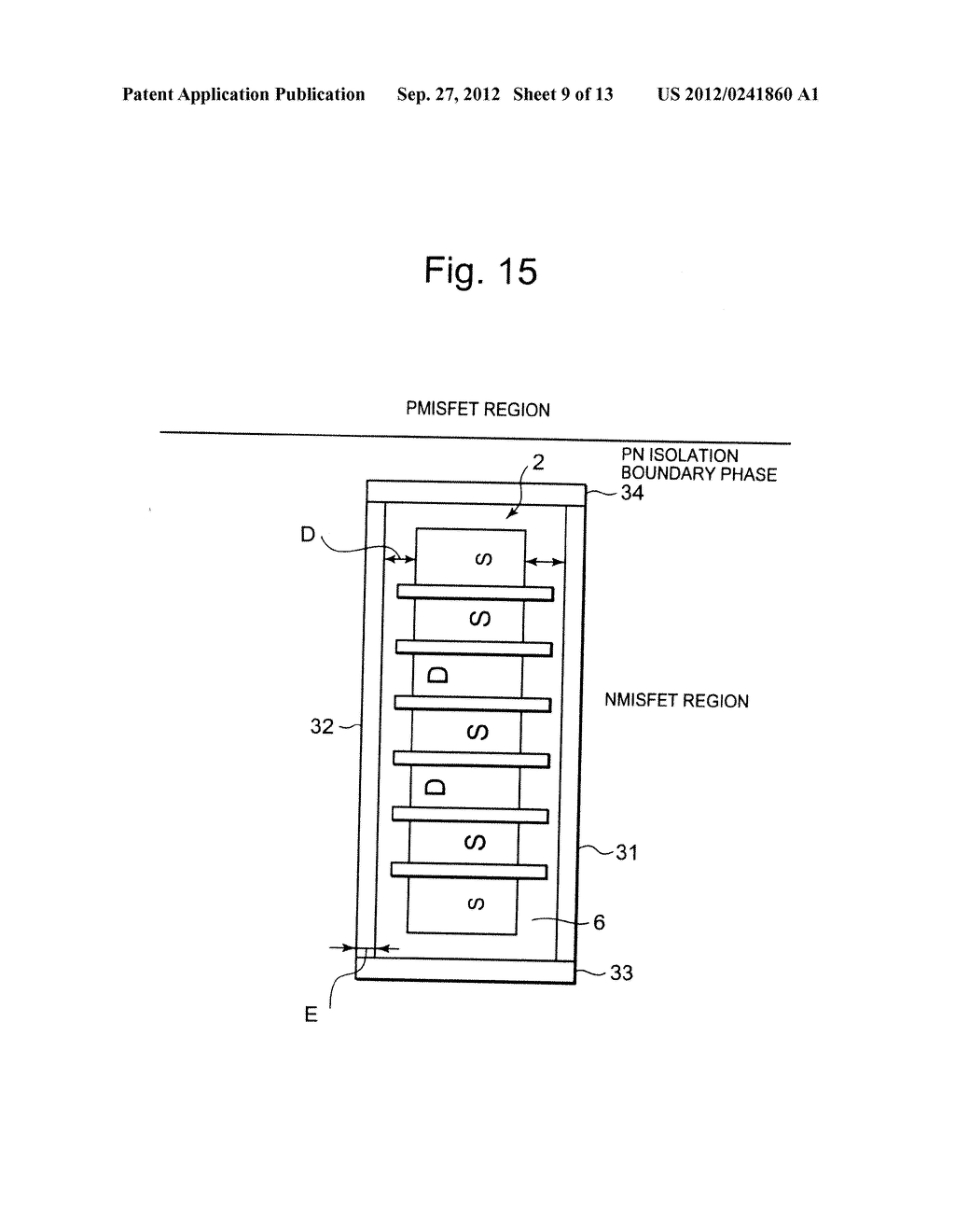 SEMICONDUCTOR INTEGRATED CIRCUIT INCLUDING TRANSISTOR  HAVING DIFFUSION     LAYER FORMED AT OUTSIDE OF ELEMENT ISOLATION REGION FOR PREVENTING SOFT     ERROR - diagram, schematic, and image 10