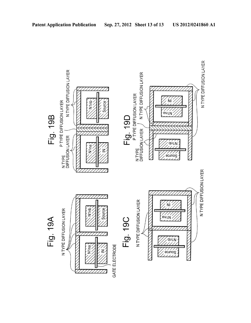 SEMICONDUCTOR INTEGRATED CIRCUIT INCLUDING TRANSISTOR  HAVING DIFFUSION     LAYER FORMED AT OUTSIDE OF ELEMENT ISOLATION REGION FOR PREVENTING SOFT     ERROR - diagram, schematic, and image 14