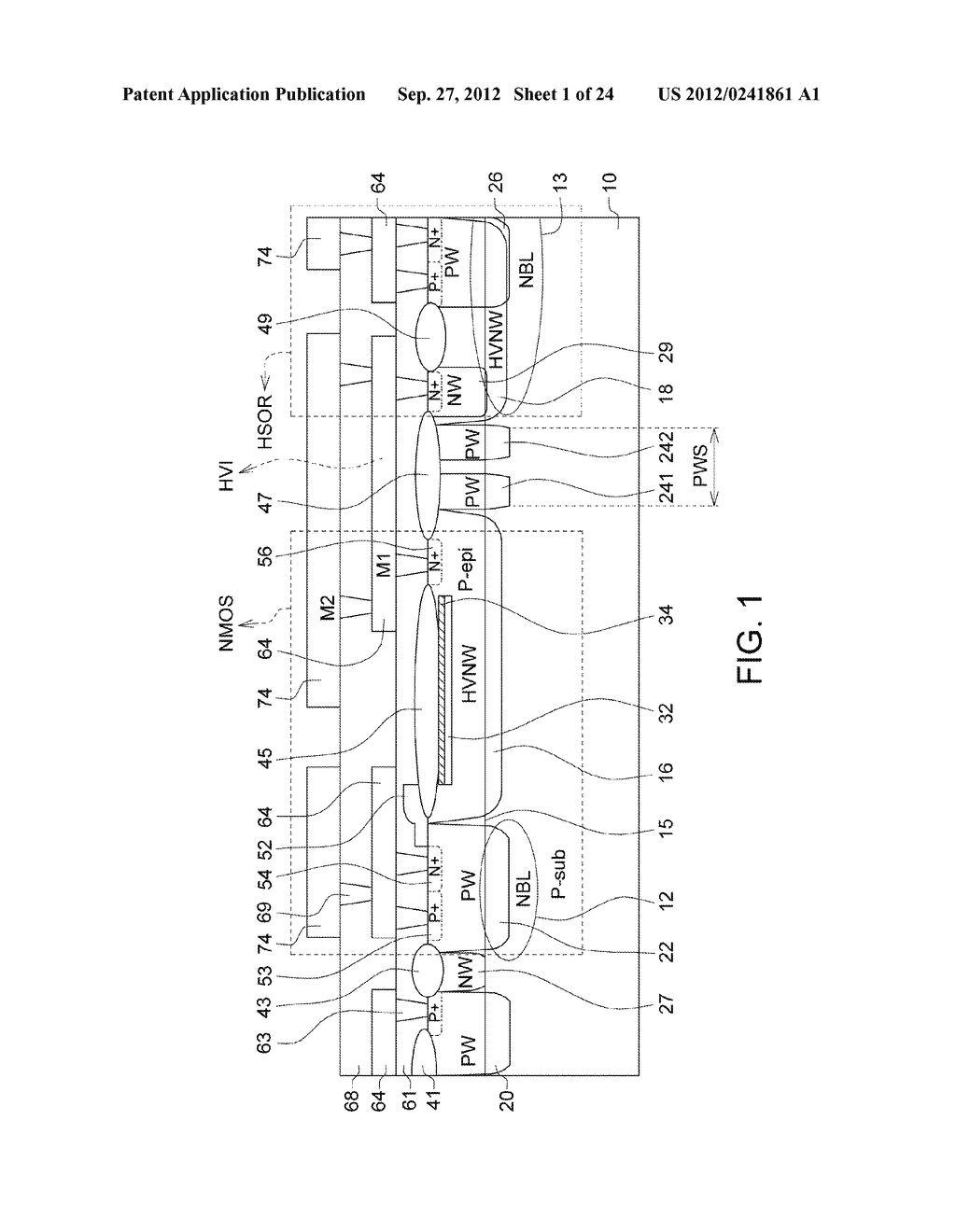 Ultra-High Voltage N-Type-Metal-Oxide-Semiconductor (UHV NMOS) Device and     Methods of Manufacturing the same - diagram, schematic, and image 02