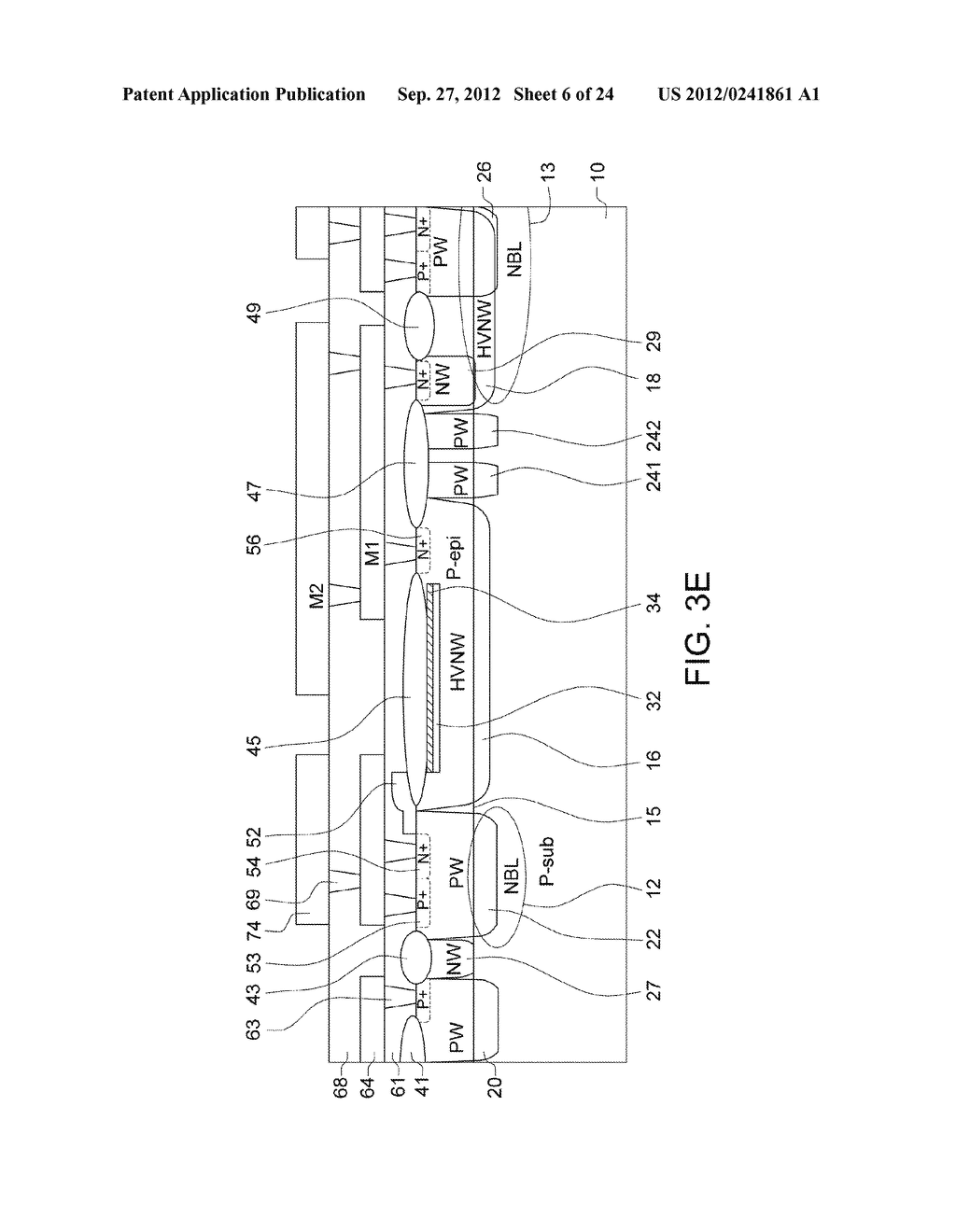 Ultra-High Voltage N-Type-Metal-Oxide-Semiconductor (UHV NMOS) Device and     Methods of Manufacturing the same - diagram, schematic, and image 07