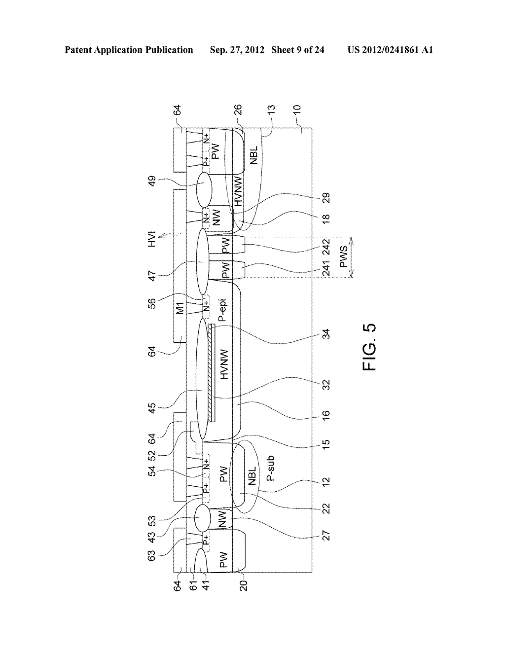 Ultra-High Voltage N-Type-Metal-Oxide-Semiconductor (UHV NMOS) Device and     Methods of Manufacturing the same - diagram, schematic, and image 10