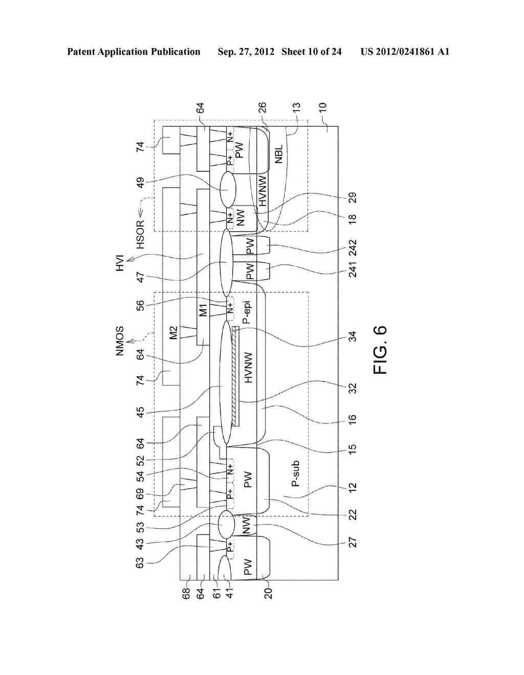 Ultra-High Voltage N-Type-Metal-Oxide-Semiconductor (UHV NMOS) Device and     Methods of Manufacturing the same - diagram, schematic, and image 11