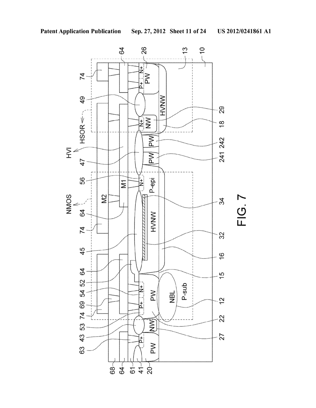 Ultra-High Voltage N-Type-Metal-Oxide-Semiconductor (UHV NMOS) Device and     Methods of Manufacturing the same - diagram, schematic, and image 12
