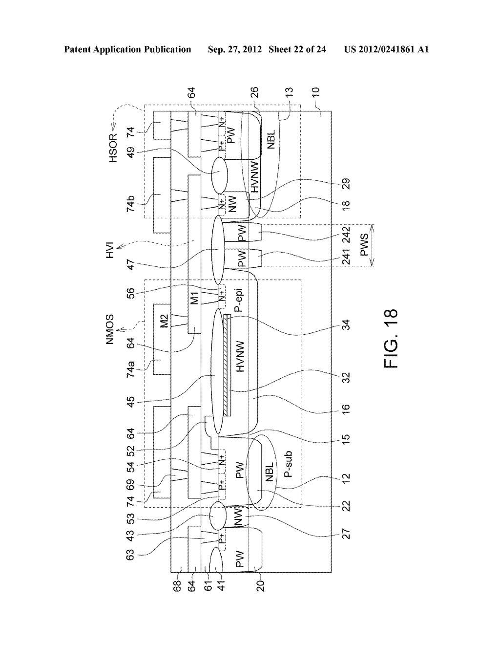 Ultra-High Voltage N-Type-Metal-Oxide-Semiconductor (UHV NMOS) Device and     Methods of Manufacturing the same - diagram, schematic, and image 23