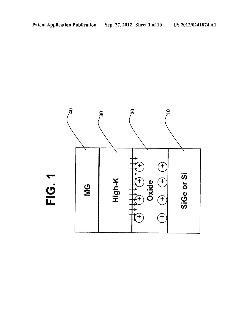 GATE OXIDE FILM INCLUDING A NITRIDE LAYER DEPOSITED THEREON AND METHOD OF     FORMING THE GATE OXIDE FILM - diagram, schematic, and image 02