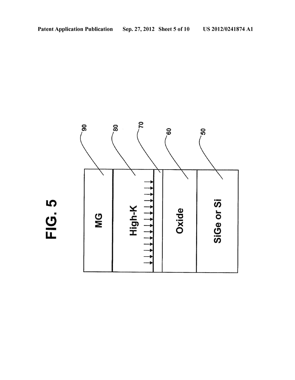 GATE OXIDE FILM INCLUDING A NITRIDE LAYER DEPOSITED THEREON AND METHOD OF     FORMING THE GATE OXIDE FILM - diagram, schematic, and image 06