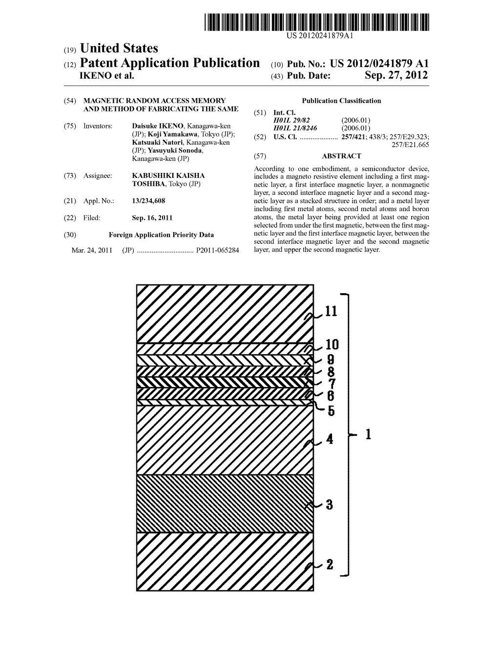 MAGNETIC RANDOM ACCESS MEMORY AND METHOD OF FABRICATING THE SAME - diagram, schematic, and image 01