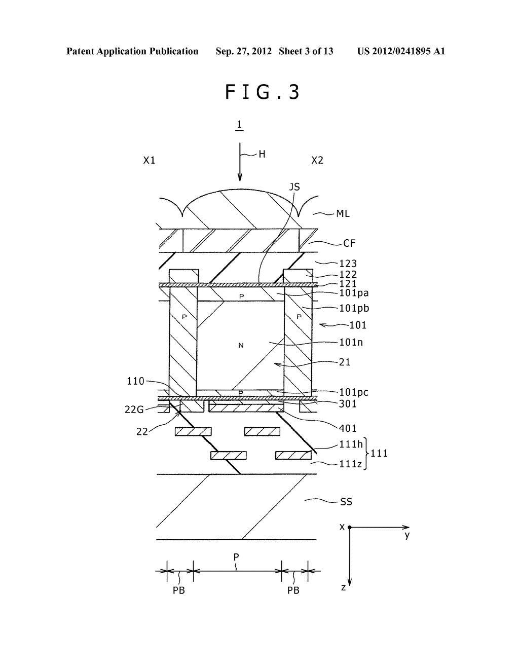SOLID-STATE IMAGING DEVICE, MANUFACTURING METHOD OF THE SAME AND     ELECTRONIC APPARATUS - diagram, schematic, and image 04