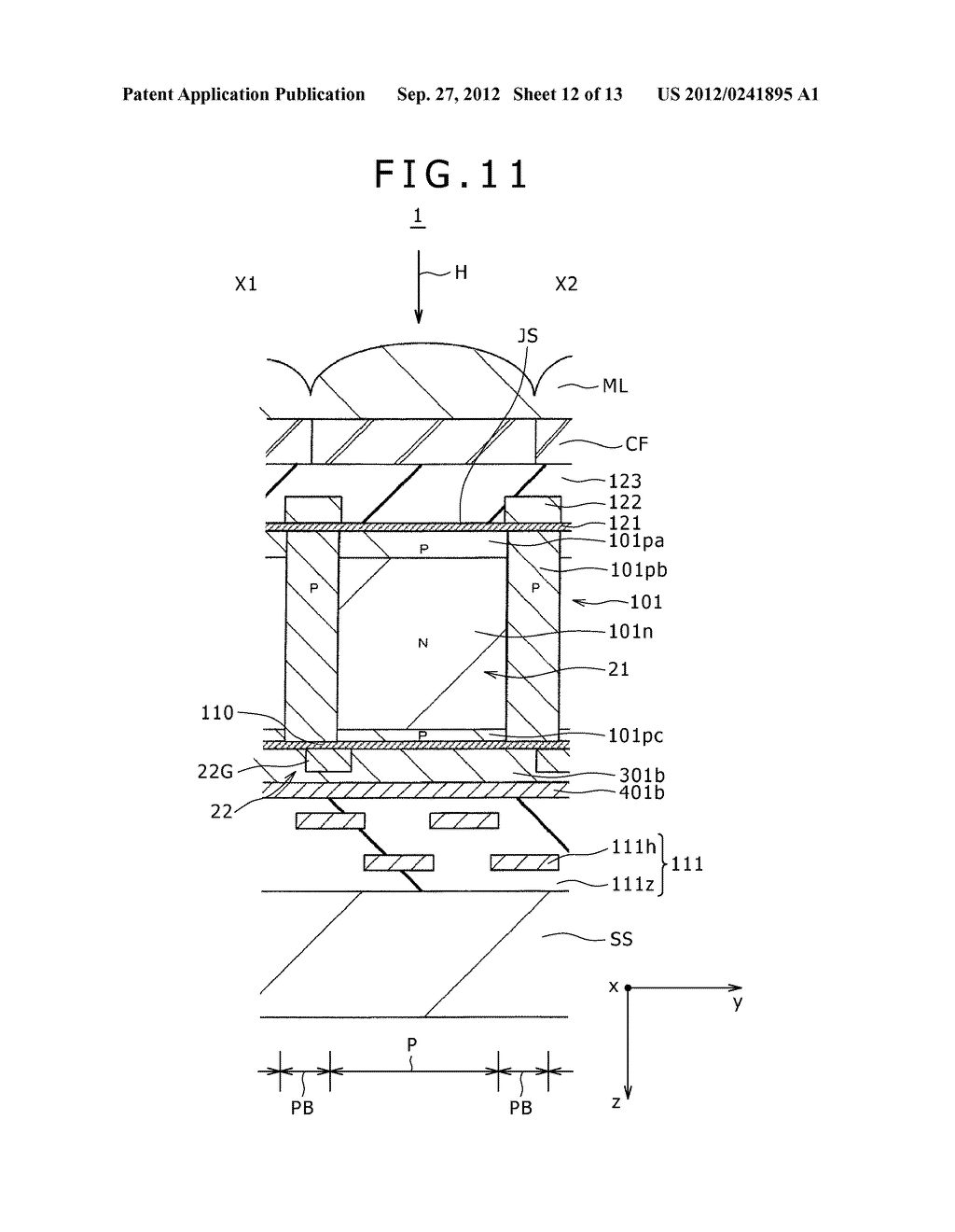 SOLID-STATE IMAGING DEVICE, MANUFACTURING METHOD OF THE SAME AND     ELECTRONIC APPARATUS - diagram, schematic, and image 13