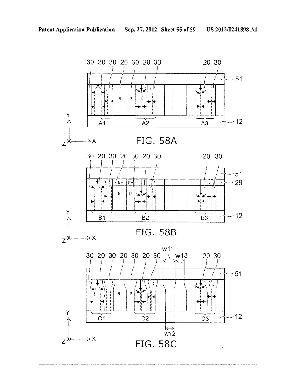 SEMICONDUCTOR DEVICE AND METHOD FOR MANUFACTURING THE SAME - diagram, schematic, and image 56