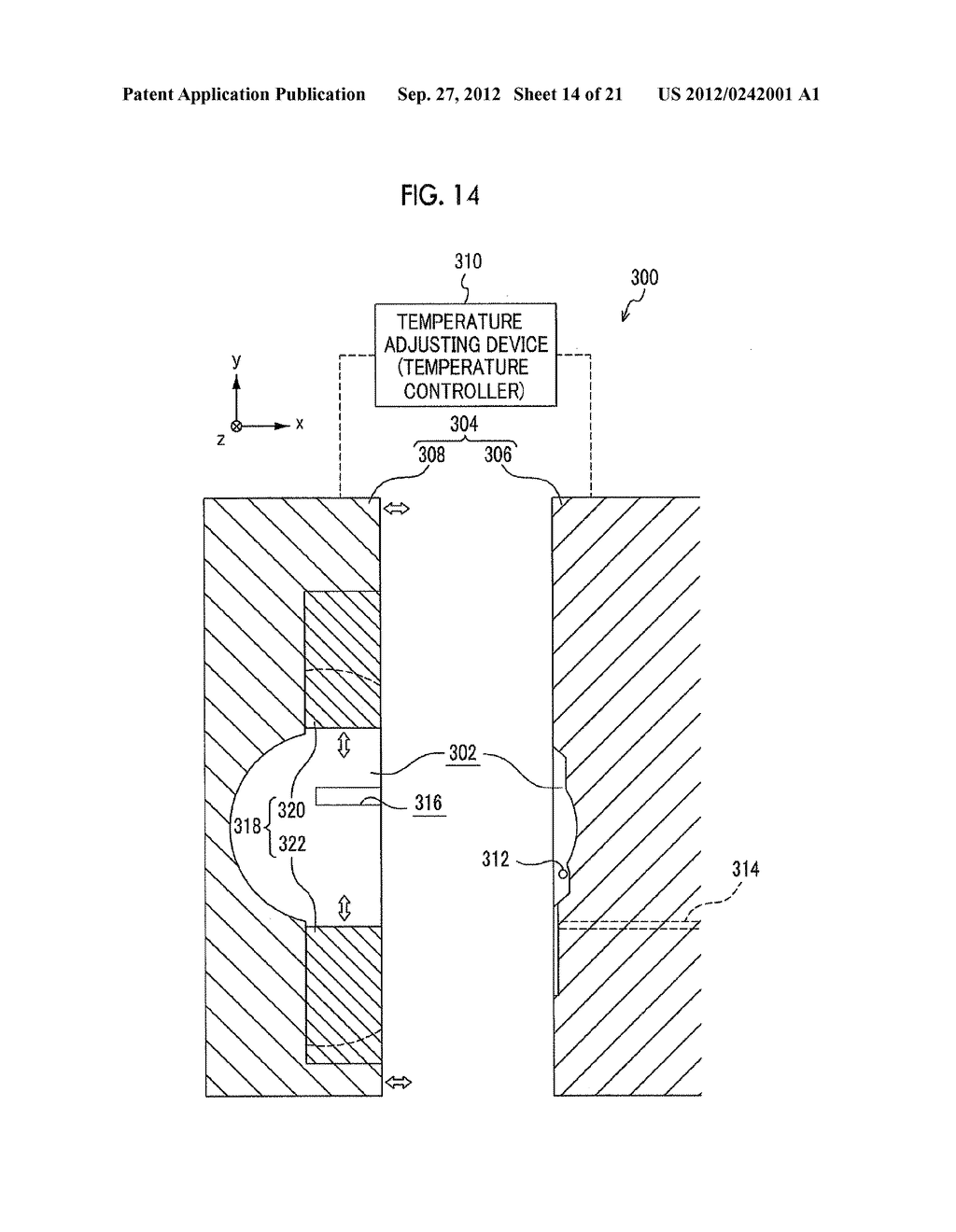 MOLDING APPARATUS AND METHOD FOR MANUFACTURING INSERT MOLDED ARTICLE - diagram, schematic, and image 15