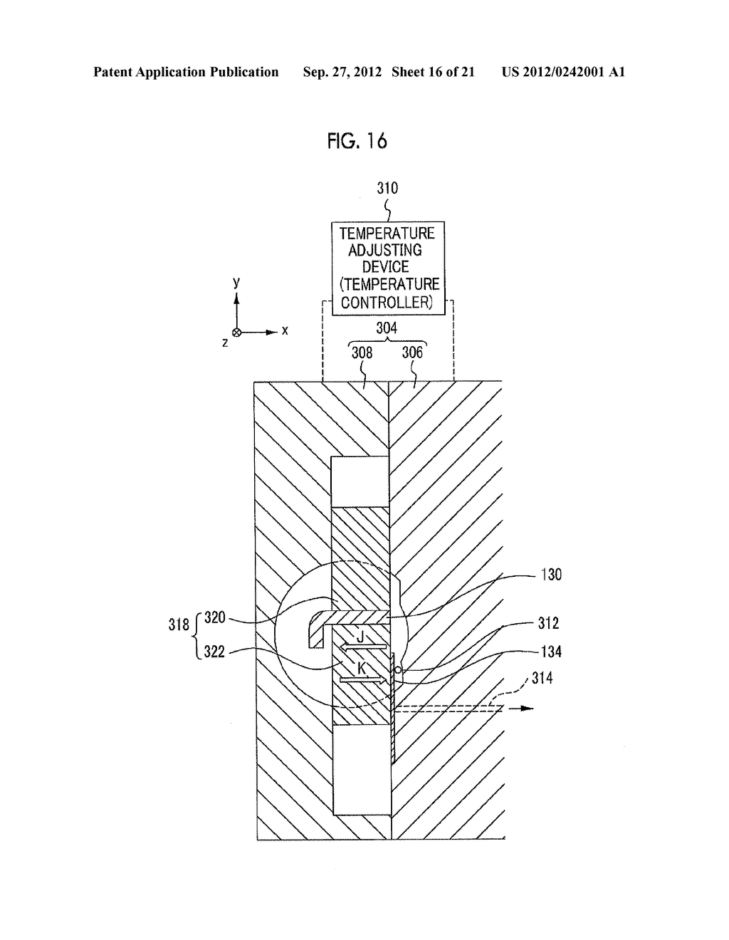 MOLDING APPARATUS AND METHOD FOR MANUFACTURING INSERT MOLDED ARTICLE - diagram, schematic, and image 17