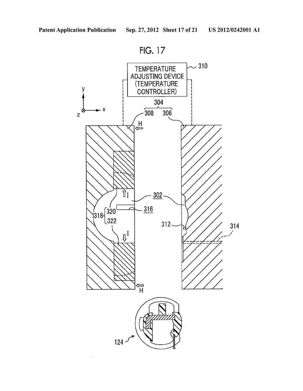 MOLDING APPARATUS AND METHOD FOR MANUFACTURING INSERT MOLDED ARTICLE - diagram, schematic, and image 18