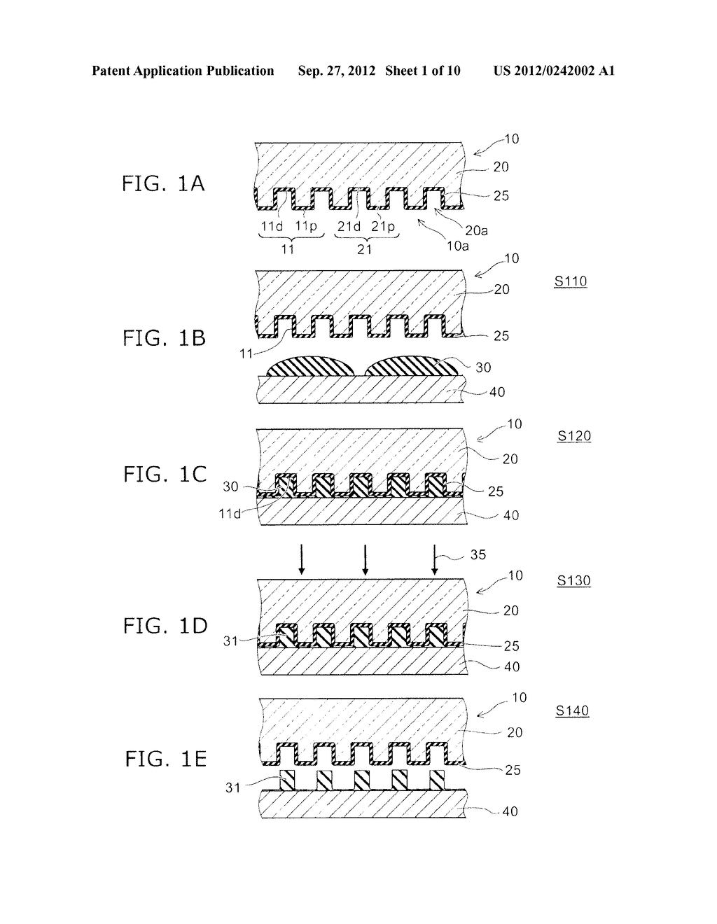 TEMPLATE, SURFACE PROCESSING METHOD OF TEMPLATE, SURFACE PROCESSING     APPARATUS OF TEMPLATE, AND PATTERN FORMATION METHOD - diagram, schematic, and image 02