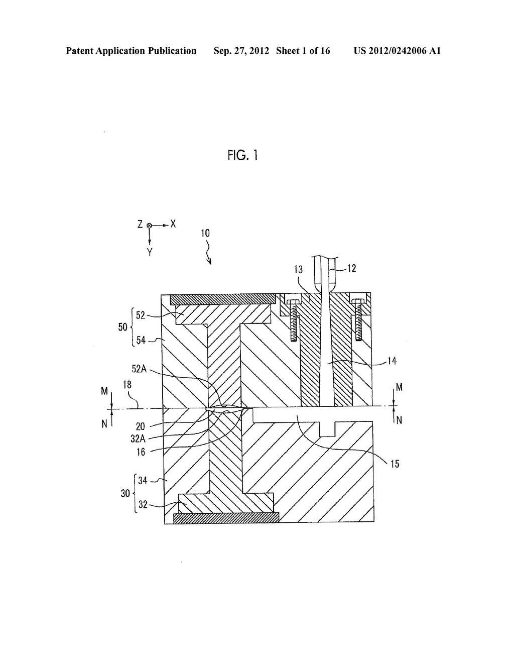 INJECTION MOLDING APPARATUS AND METHOD FOR MANUFACTURING LONG MOLDED     ARTICLE - diagram, schematic, and image 02