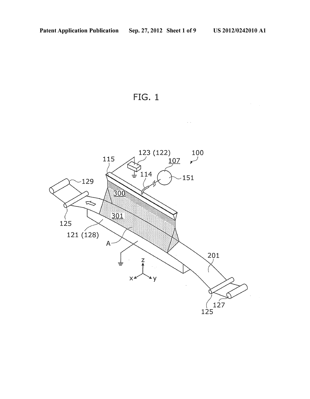 NANOFIBER MANUFACTURING APPARATUS AND METHOD OF MANUFACTURING NANOFIBERS - diagram, schematic, and image 02