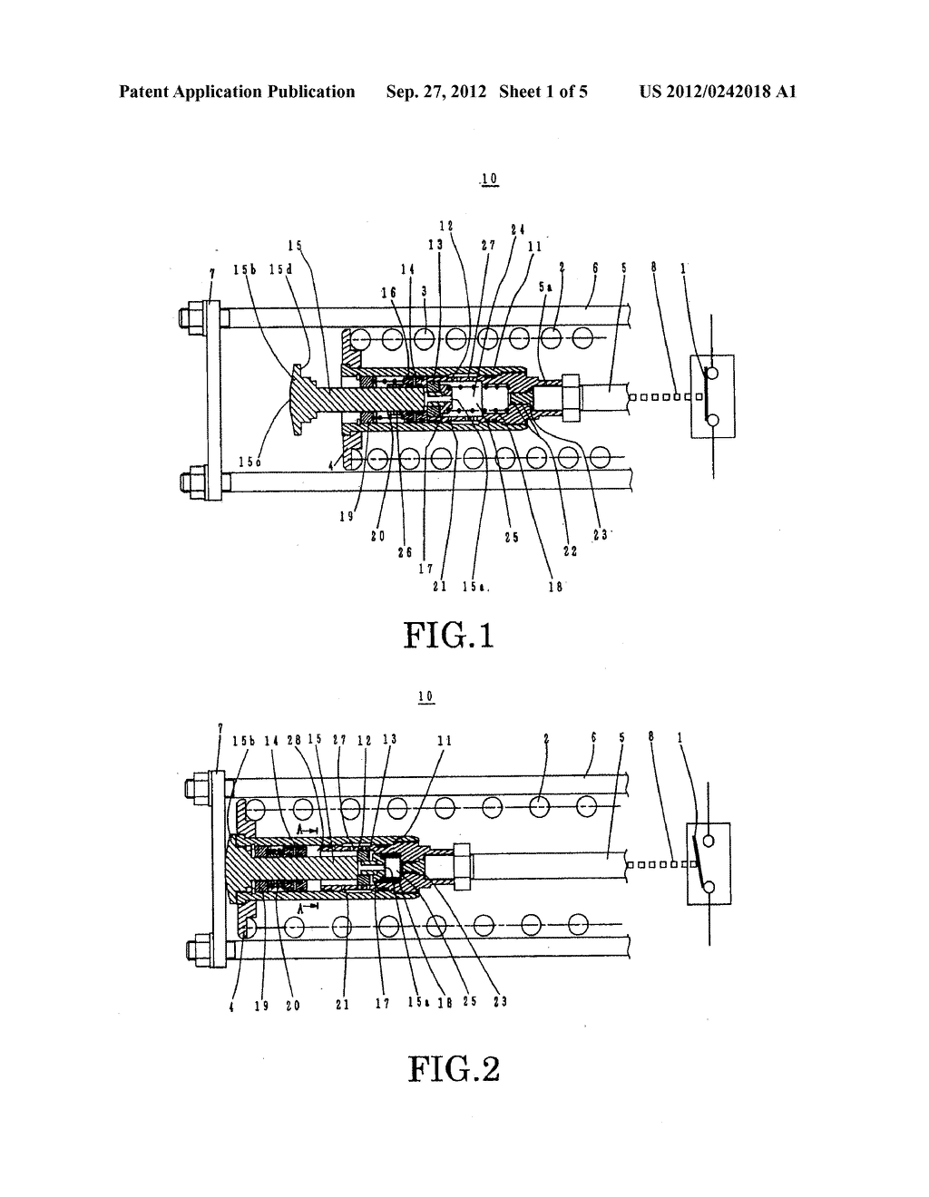 BUFFERING DEVICE FOR THE OPERATING MECHANISM OF A SWITCHGEAR, AND METHOD     OF LUBRICATION THEREOF - diagram, schematic, and image 02