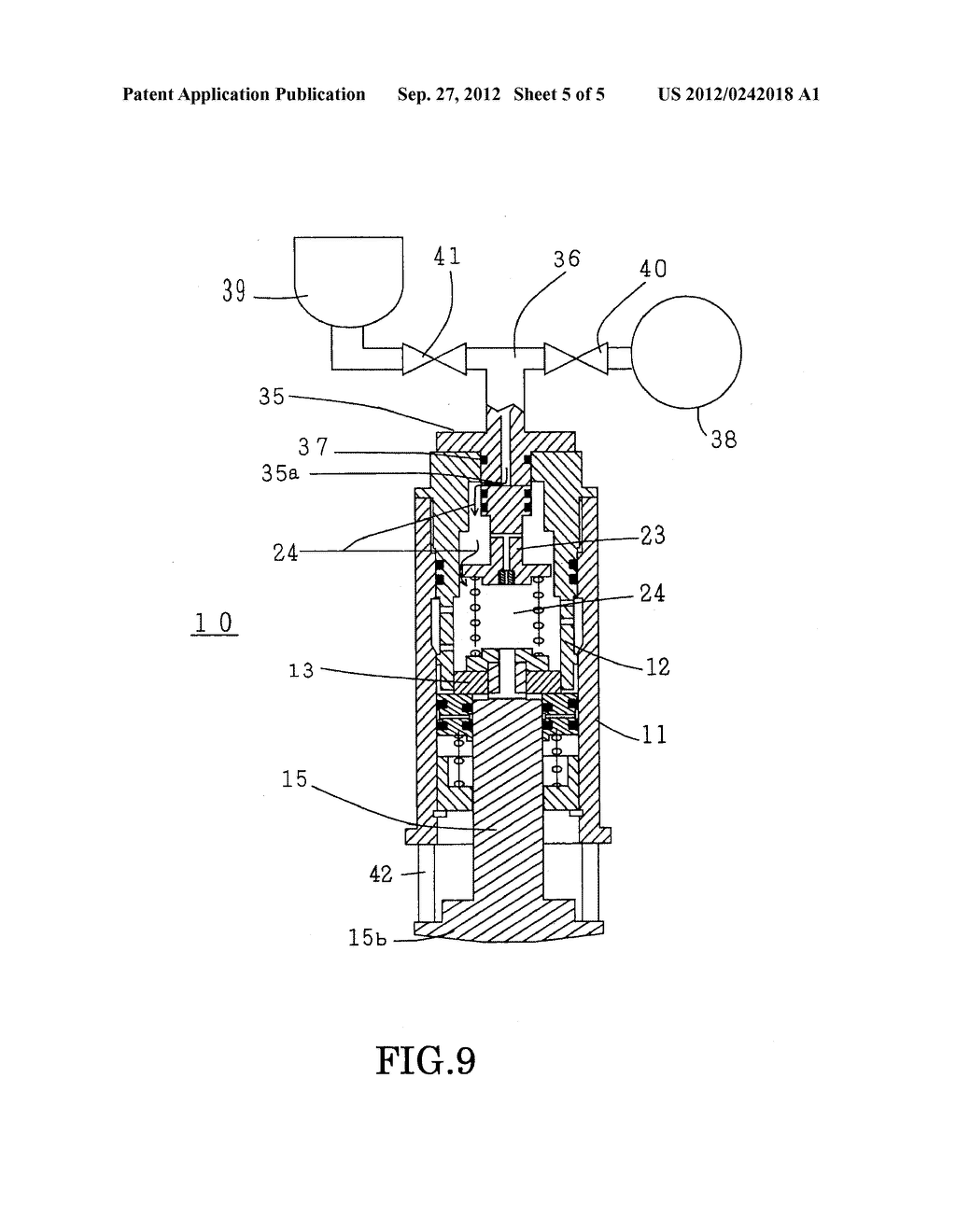 BUFFERING DEVICE FOR THE OPERATING MECHANISM OF A SWITCHGEAR, AND METHOD     OF LUBRICATION THEREOF - diagram, schematic, and image 06
