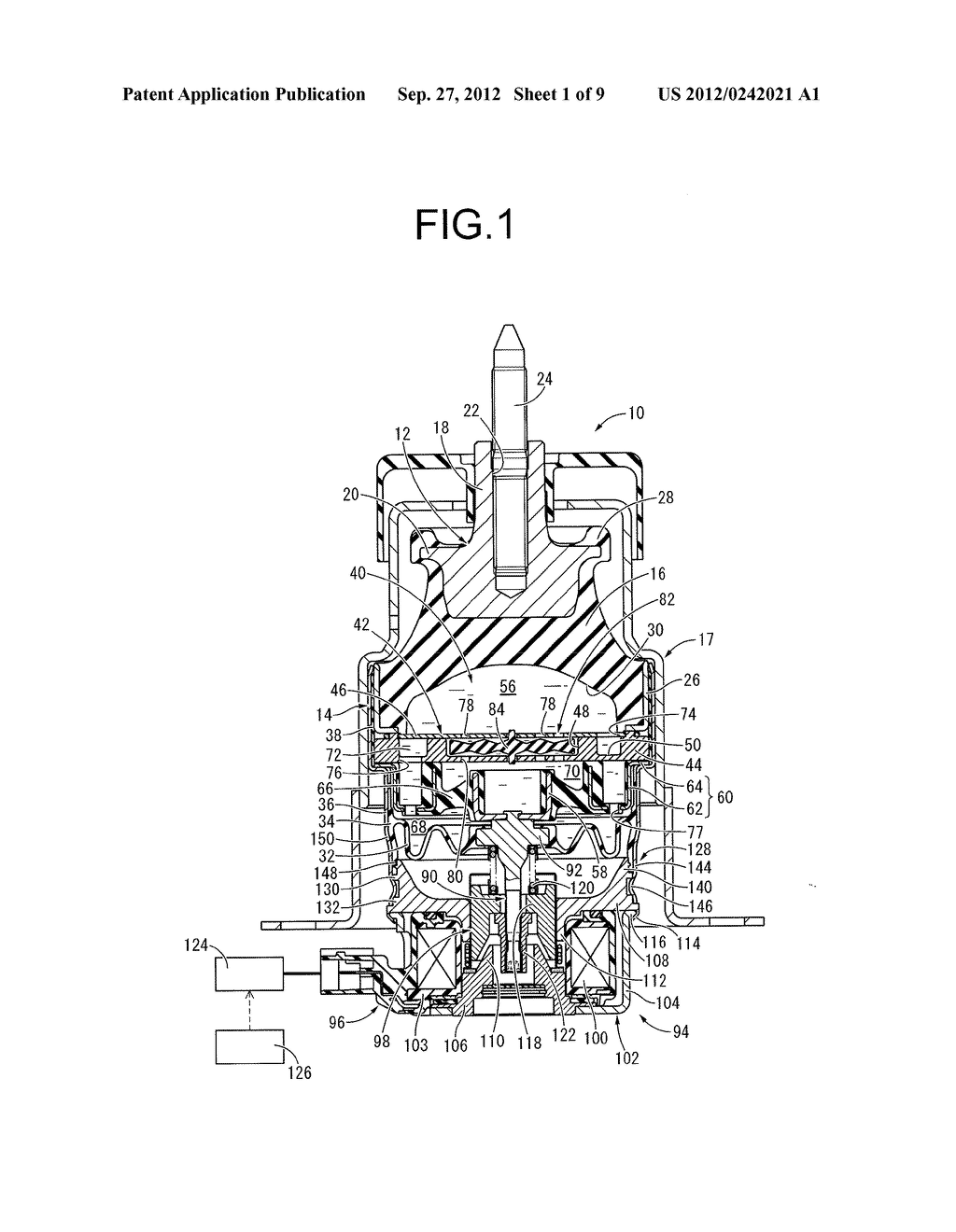 FLUID-FILLED TYPE VIBRATION DAMPING DEVICE AND MANUFACTURING METHOD     THEREOF - diagram, schematic, and image 02