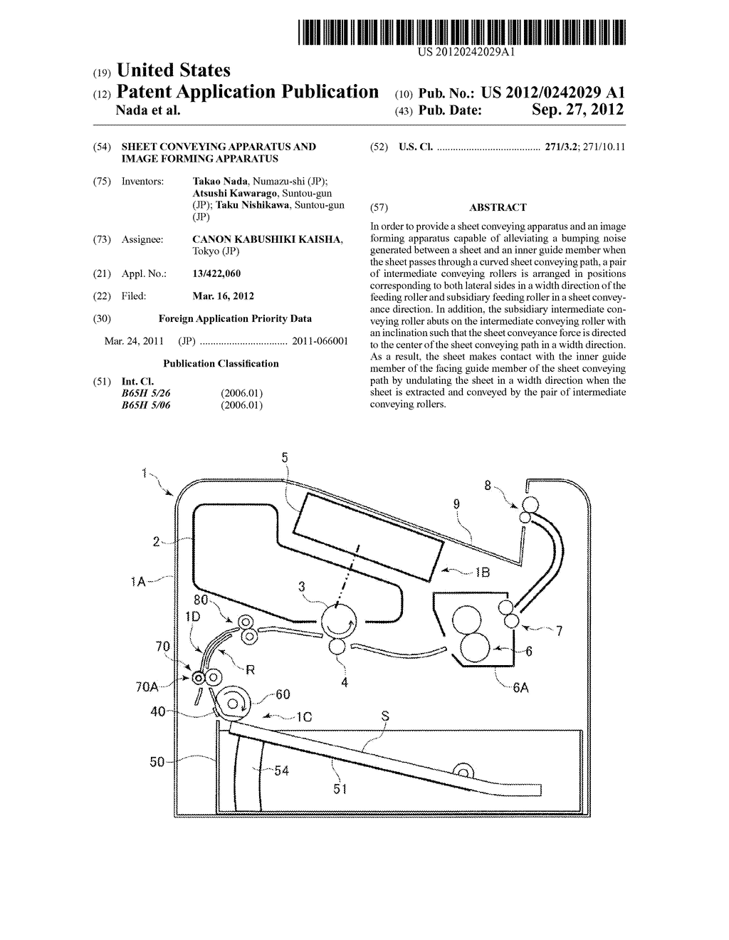 SHEET CONVEYING APPARATUS AND IMAGE FORMING APPARATUS - diagram, schematic, and image 01