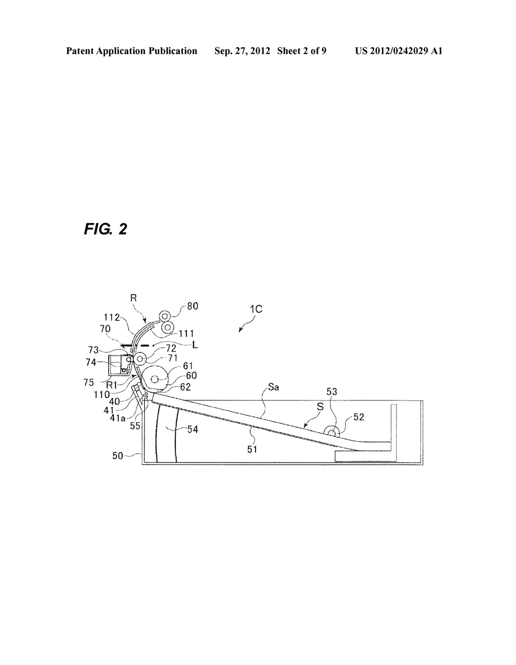 SHEET CONVEYING APPARATUS AND IMAGE FORMING APPARATUS - diagram, schematic, and image 03