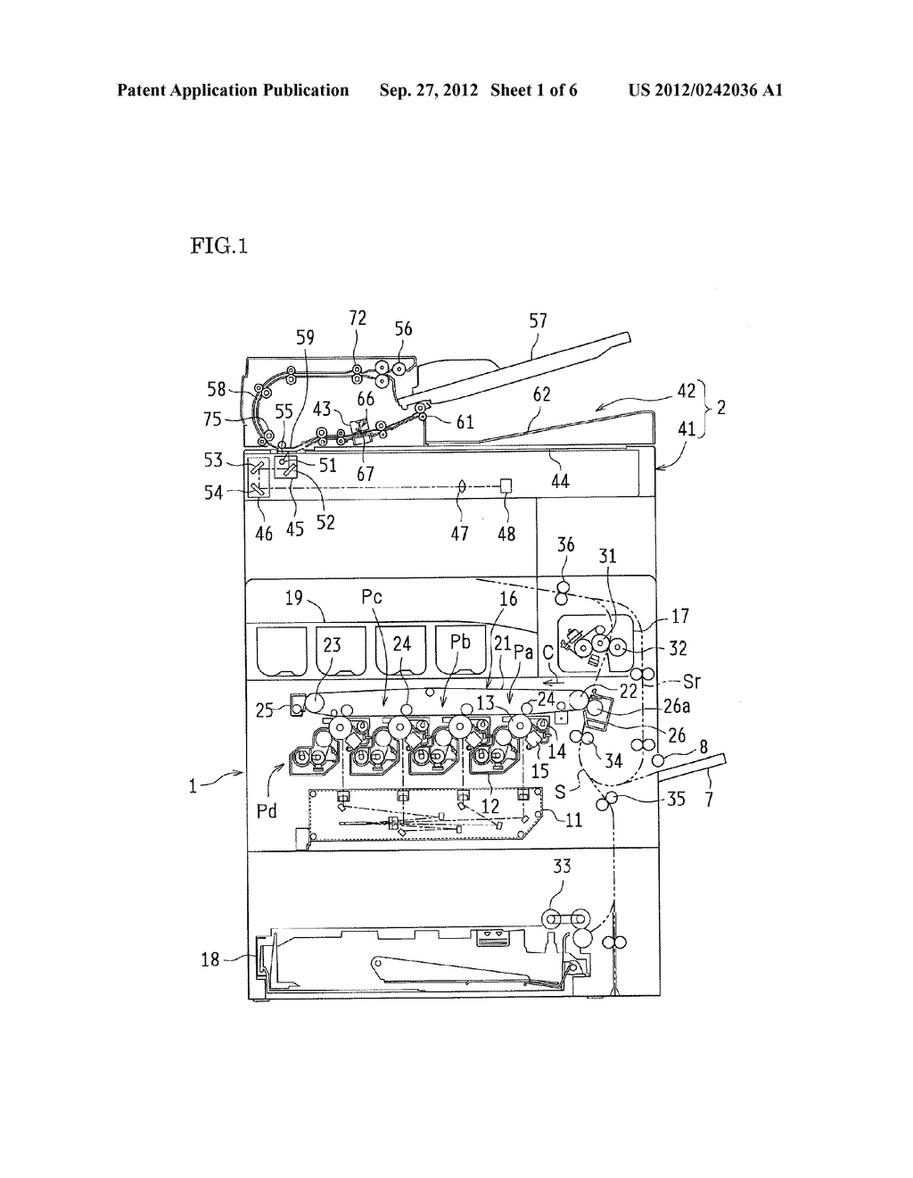 PAPER TRANSPORT DEVICE, DOCUMENT READING APPARATUS PROVIDED WITH THE SAME,     AND IMAGE FORMING APPARATUS PROVIDED WITH THE SAME - diagram, schematic, and image 02