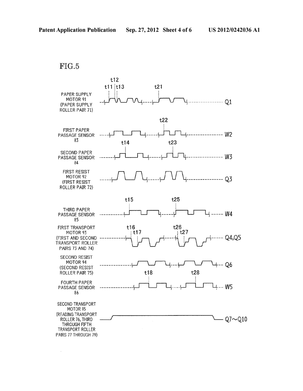PAPER TRANSPORT DEVICE, DOCUMENT READING APPARATUS PROVIDED WITH THE SAME,     AND IMAGE FORMING APPARATUS PROVIDED WITH THE SAME - diagram, schematic, and image 05