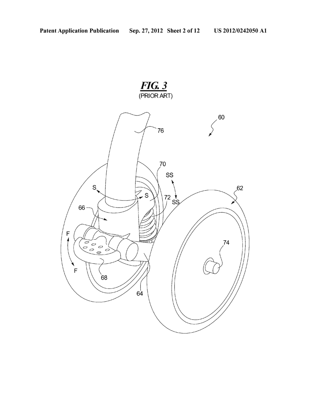 Stroller Wheel Assembly - diagram, schematic, and image 03