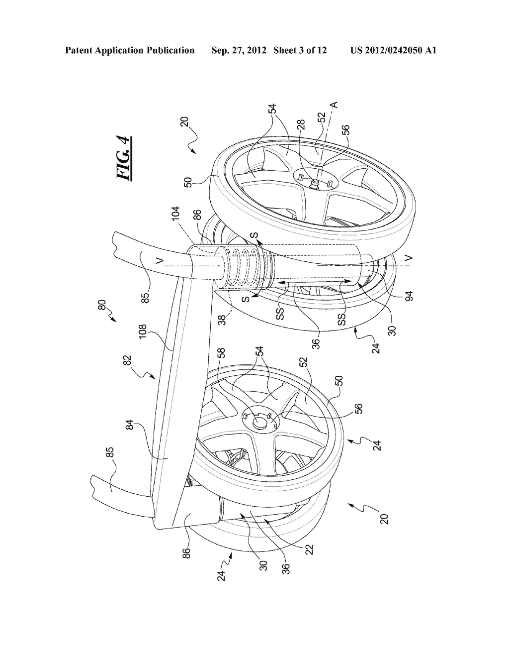 Stroller Wheel Assembly - diagram, schematic, and image 04