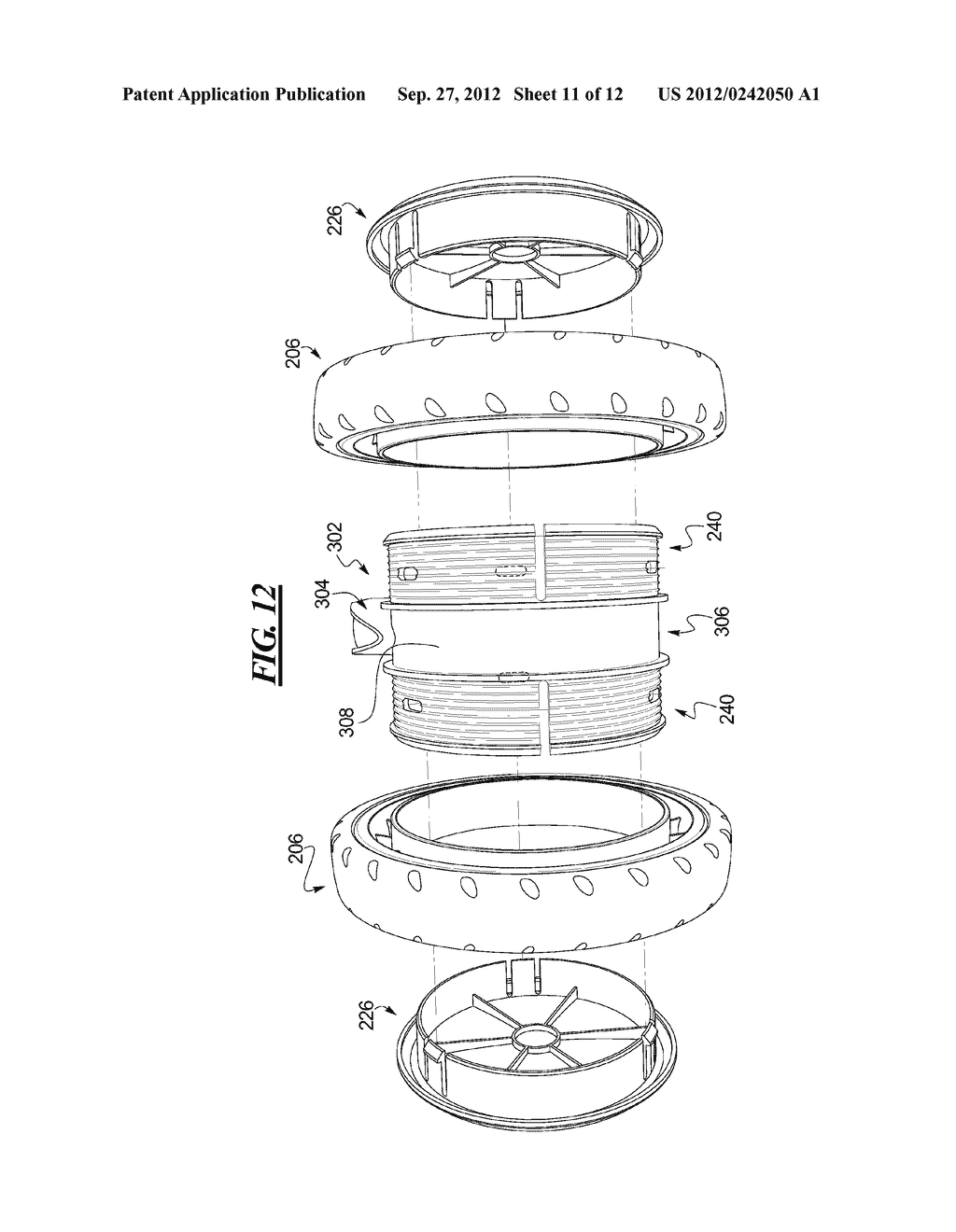 Stroller Wheel Assembly - diagram, schematic, and image 12