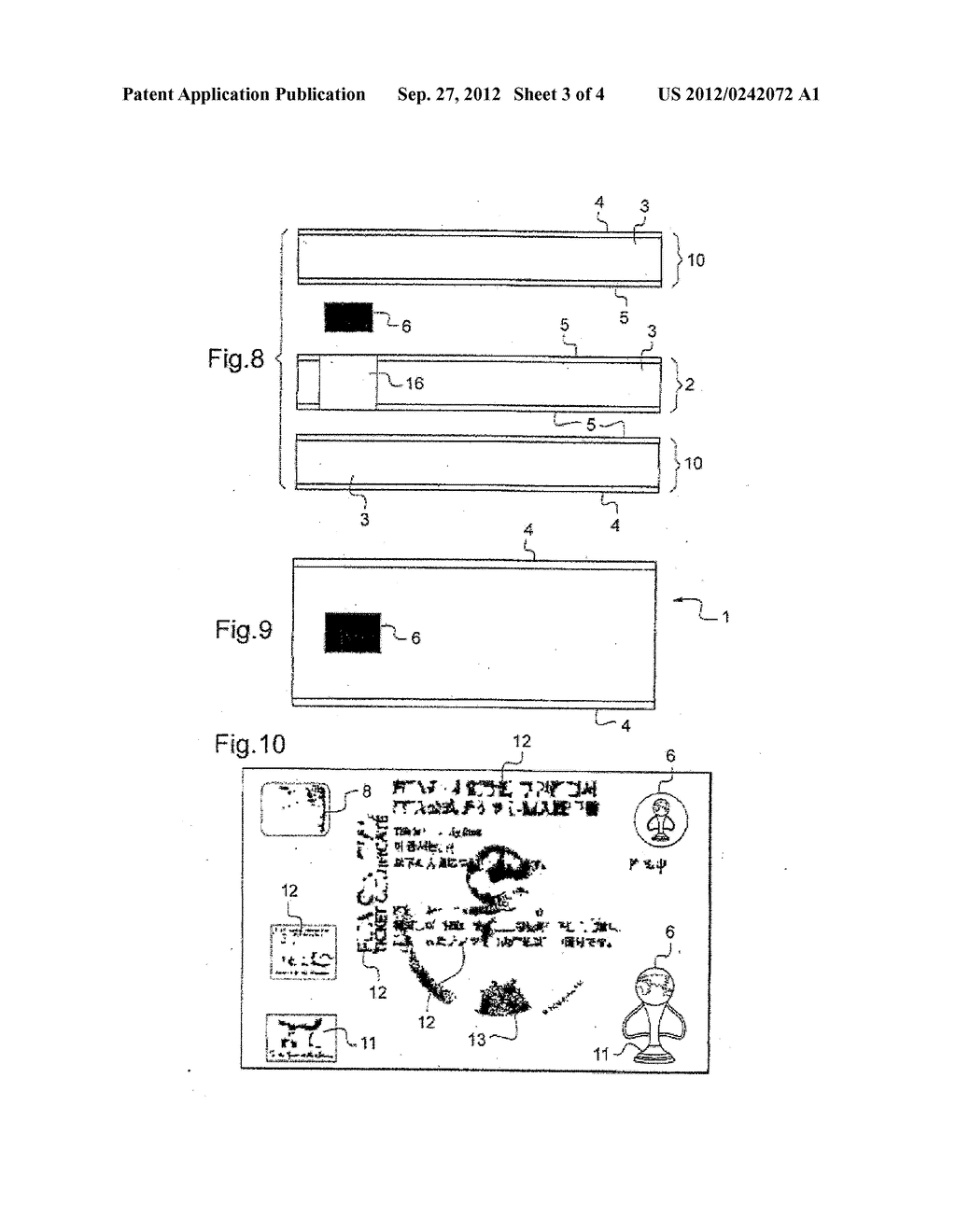 METHOD FOR PRODUCING A SUPPORT COMPRISING AN ELECTRONIC DEVICE - diagram, schematic, and image 04