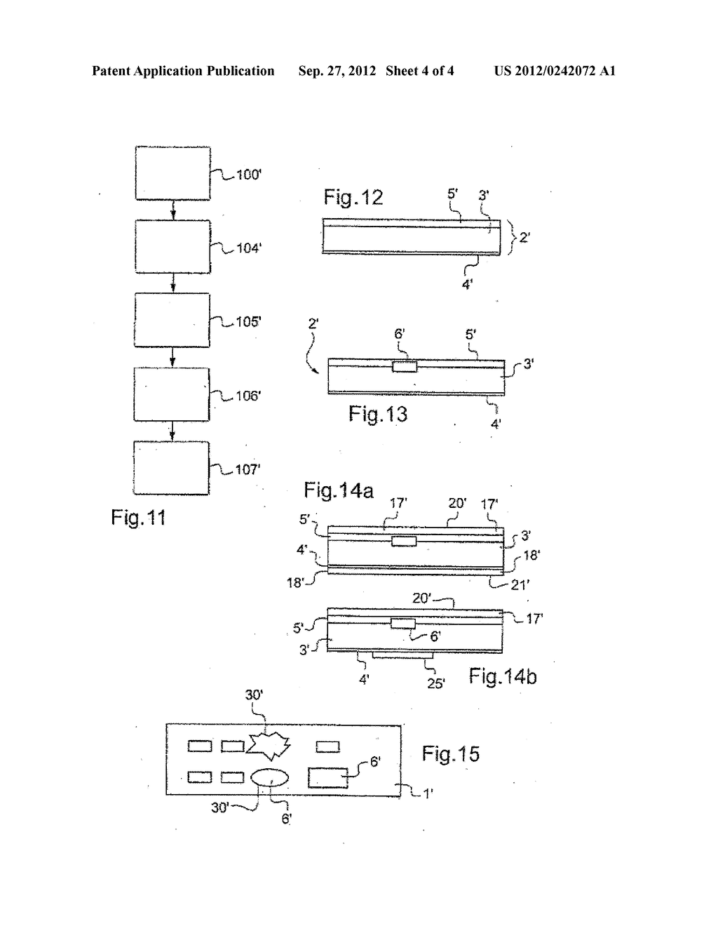 METHOD FOR PRODUCING A SUPPORT COMPRISING AN ELECTRONIC DEVICE - diagram, schematic, and image 05