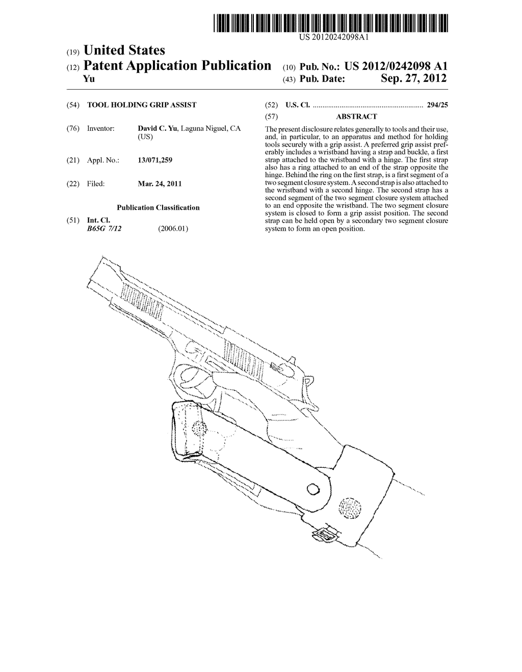 Tool Holding Grip Assist - diagram, schematic, and image 01