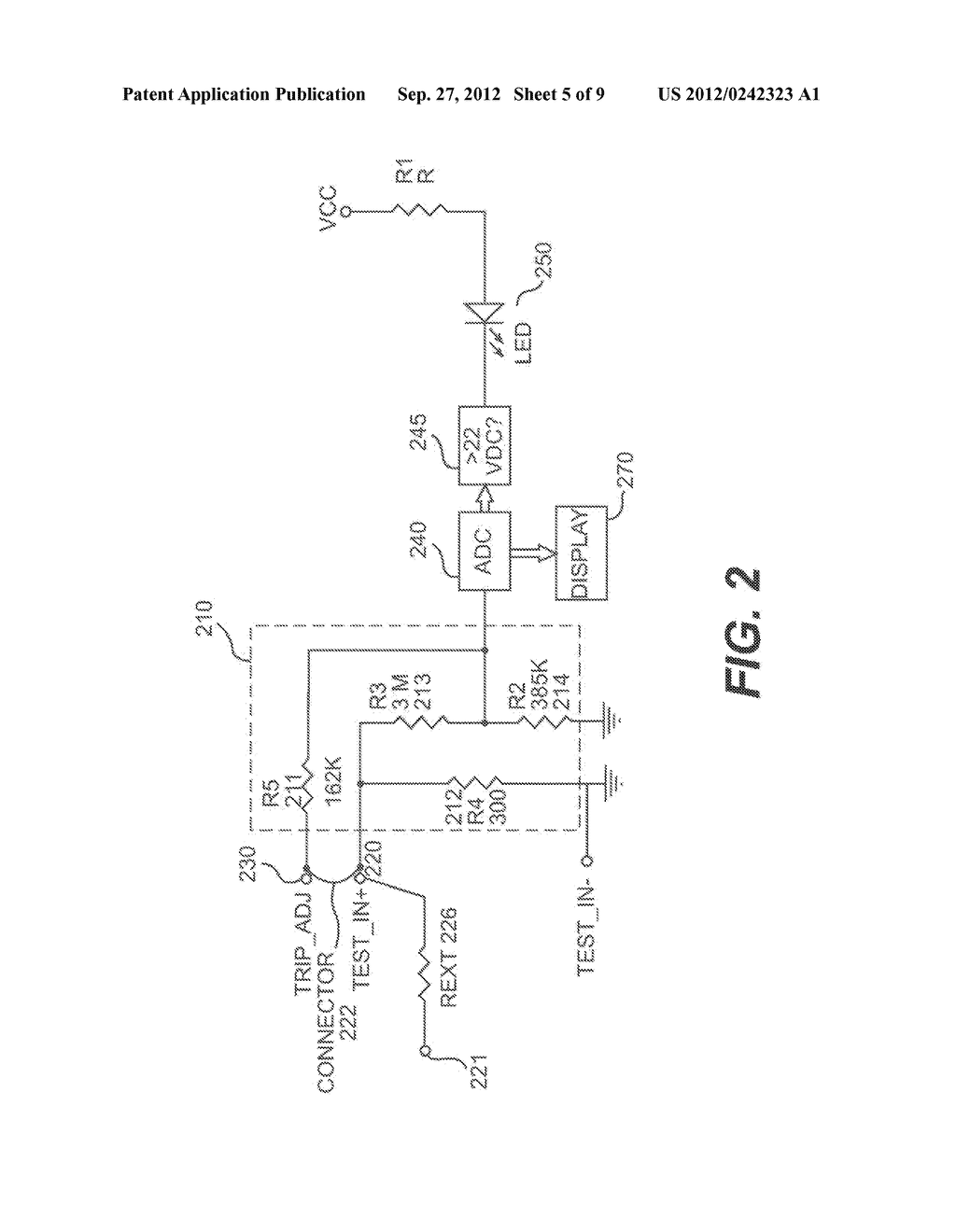 Method and System for a Digital Voltage Detector with Digital Voltage     Display - diagram, schematic, and image 06