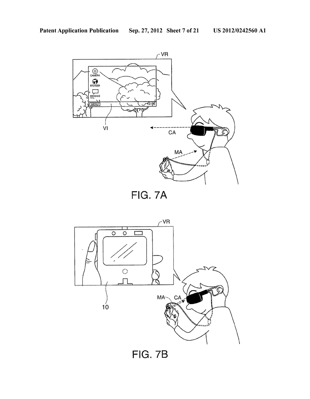 HEAD-MOUNTED DISPLAY DEVICE AND CONTROL METHOD FOR THE HEAD-MOUNTED     DISPLAY DEVICE - diagram, schematic, and image 08
