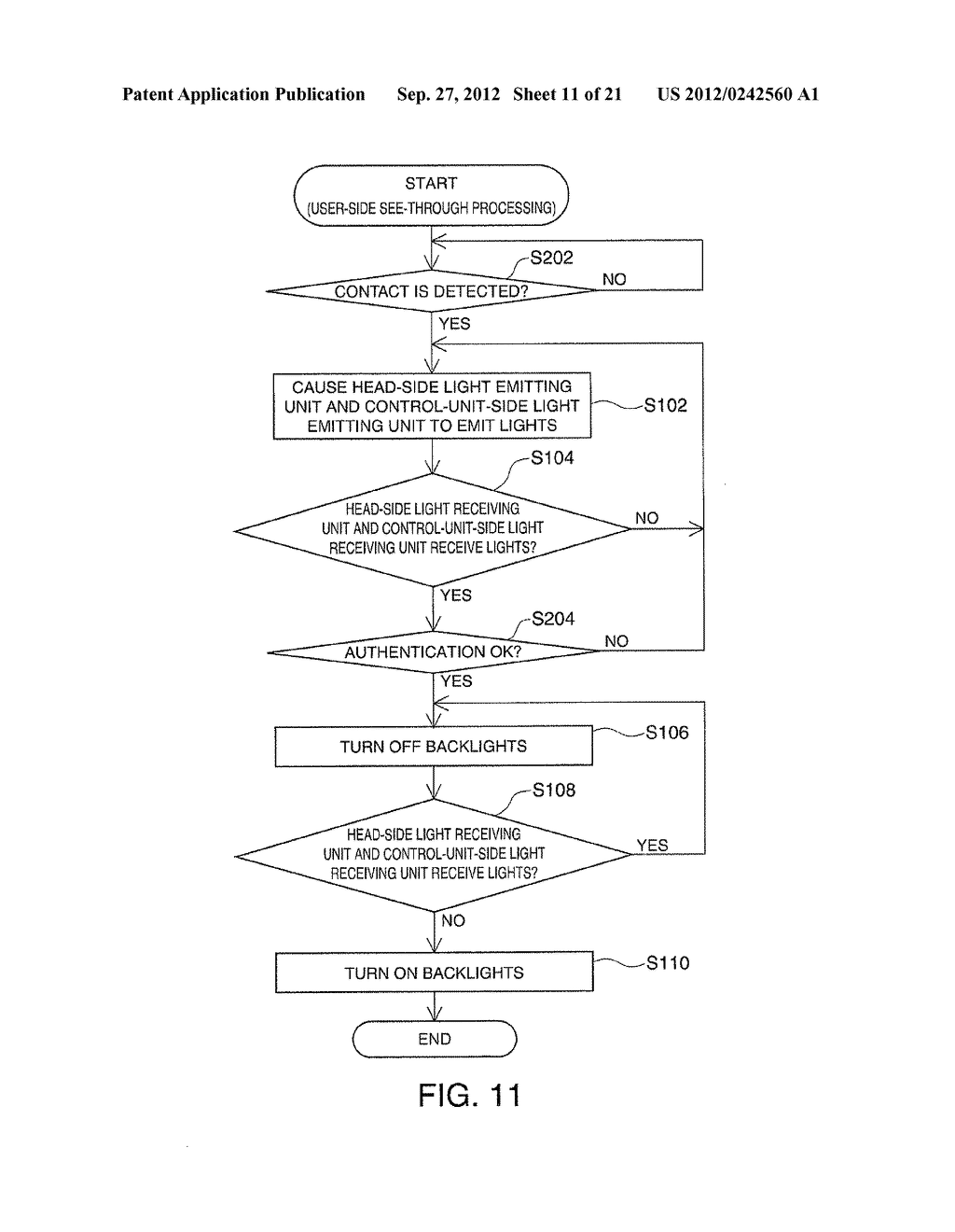 HEAD-MOUNTED DISPLAY DEVICE AND CONTROL METHOD FOR THE HEAD-MOUNTED     DISPLAY DEVICE - diagram, schematic, and image 12