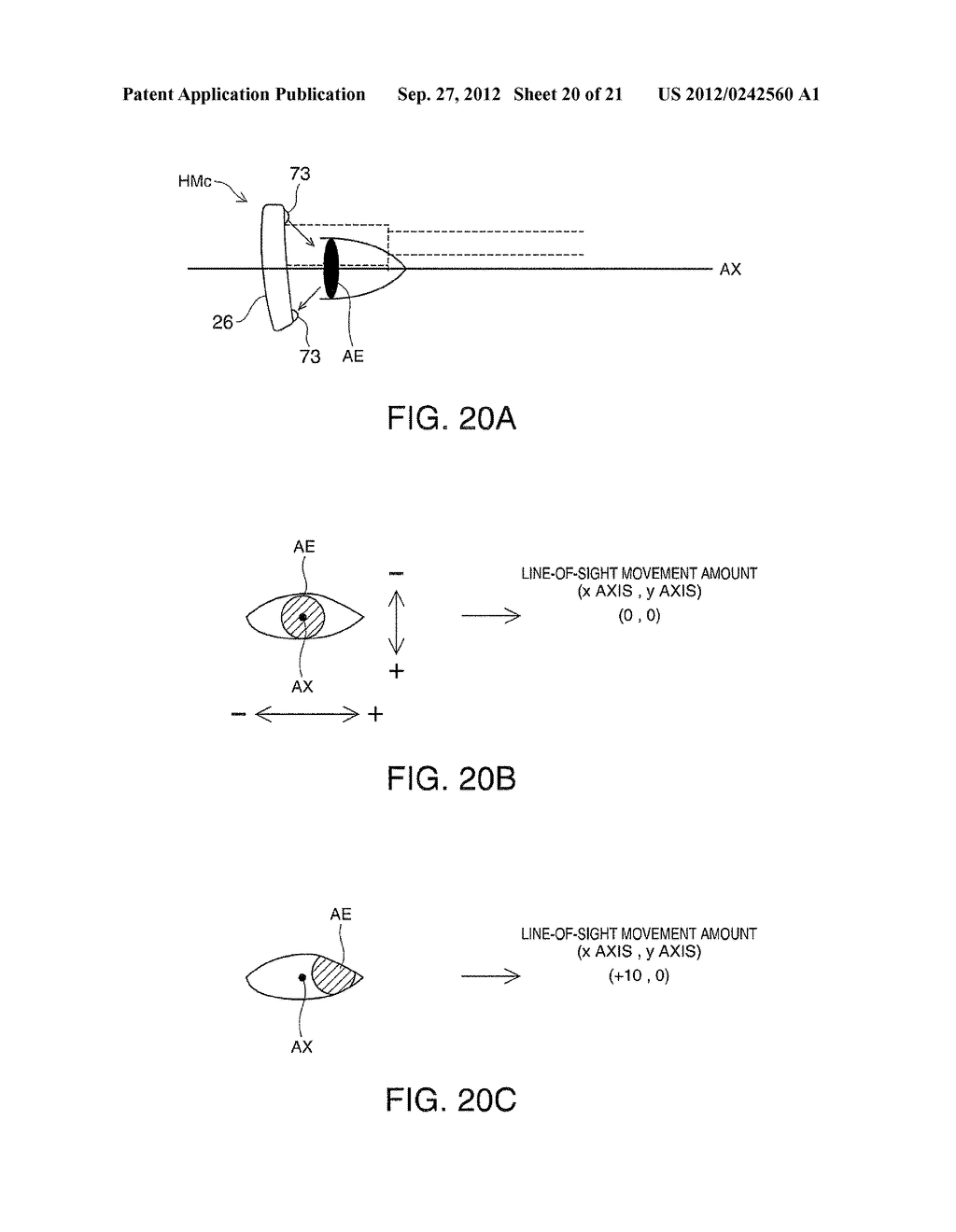 HEAD-MOUNTED DISPLAY DEVICE AND CONTROL METHOD FOR THE HEAD-MOUNTED     DISPLAY DEVICE - diagram, schematic, and image 21