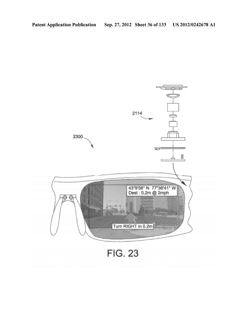 SEE-THROUGH NEAR-EYE DISPLAY GLASSES INCLUDING AN AUTO-BRIGHTNESS CONTROL     FOR THE DISPLAY BRIGHTNESS BASED ON THE BRIGHTNESS IN THE ENVIRONMENT - diagram, schematic, and image 37