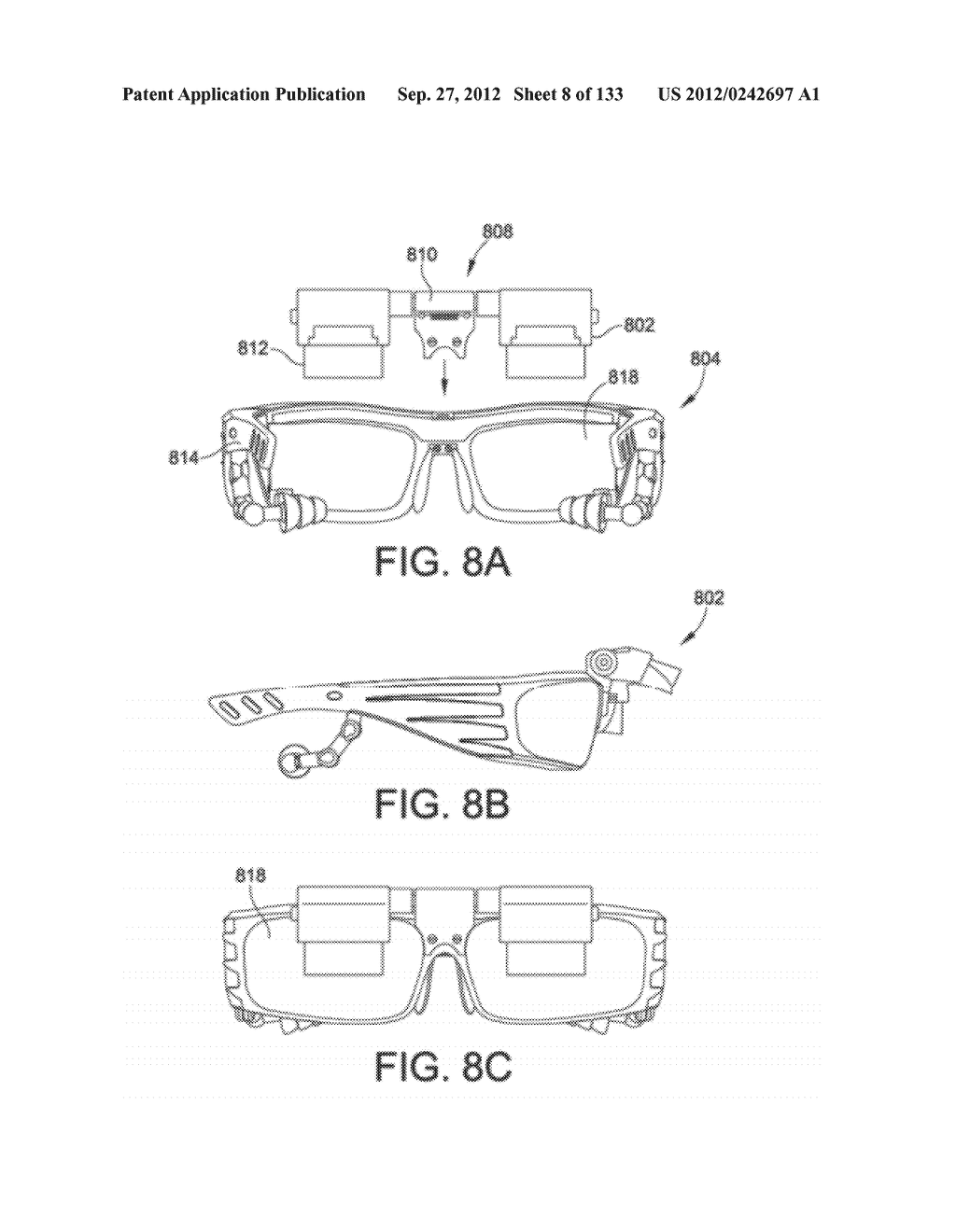 SEE-THROUGH NEAR-EYE DISPLAY GLASSES WITH THE OPTICAL ASSEMBLY INCLUDING     ABSORPTIVE POLARIZERS OR ANTI-REFLECTIVE COATINGS TO REDUCE STRAY LIGHT - diagram, schematic, and image 09