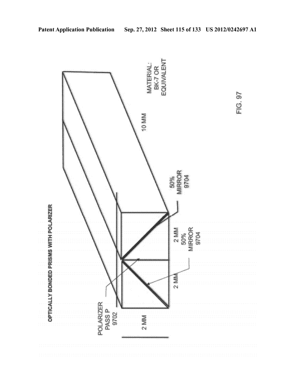 SEE-THROUGH NEAR-EYE DISPLAY GLASSES WITH THE OPTICAL ASSEMBLY INCLUDING     ABSORPTIVE POLARIZERS OR ANTI-REFLECTIVE COATINGS TO REDUCE STRAY LIGHT - diagram, schematic, and image 116