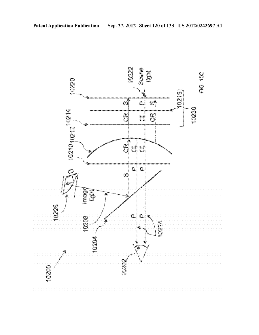 SEE-THROUGH NEAR-EYE DISPLAY GLASSES WITH THE OPTICAL ASSEMBLY INCLUDING     ABSORPTIVE POLARIZERS OR ANTI-REFLECTIVE COATINGS TO REDUCE STRAY LIGHT - diagram, schematic, and image 121