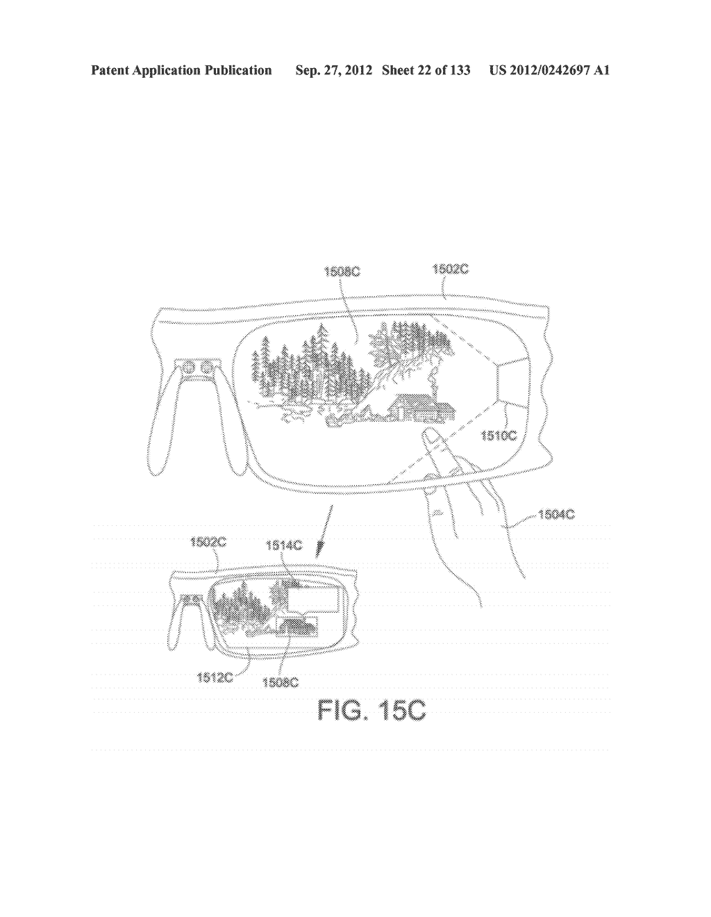 SEE-THROUGH NEAR-EYE DISPLAY GLASSES WITH THE OPTICAL ASSEMBLY INCLUDING     ABSORPTIVE POLARIZERS OR ANTI-REFLECTIVE COATINGS TO REDUCE STRAY LIGHT - diagram, schematic, and image 23
