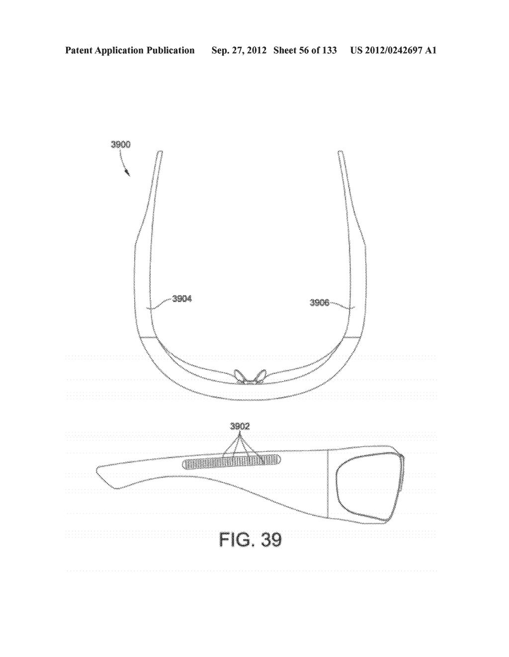 SEE-THROUGH NEAR-EYE DISPLAY GLASSES WITH THE OPTICAL ASSEMBLY INCLUDING     ABSORPTIVE POLARIZERS OR ANTI-REFLECTIVE COATINGS TO REDUCE STRAY LIGHT - diagram, schematic, and image 57