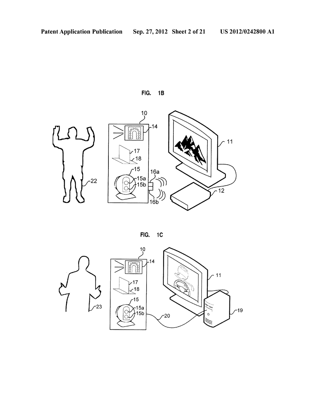 APPARATUS AND SYSTEM FOR INTERFACING WITH COMPUTERS AND OTHER ELECTRONIC     DEVICES THROUGH GESTURES BY USING DEPTH SENSING AND METHODS OF USE - diagram, schematic, and image 03