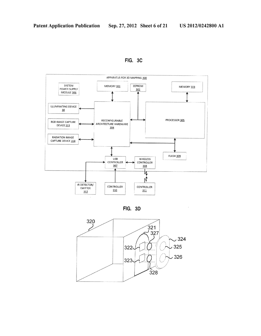 APPARATUS AND SYSTEM FOR INTERFACING WITH COMPUTERS AND OTHER ELECTRONIC     DEVICES THROUGH GESTURES BY USING DEPTH SENSING AND METHODS OF USE - diagram, schematic, and image 07