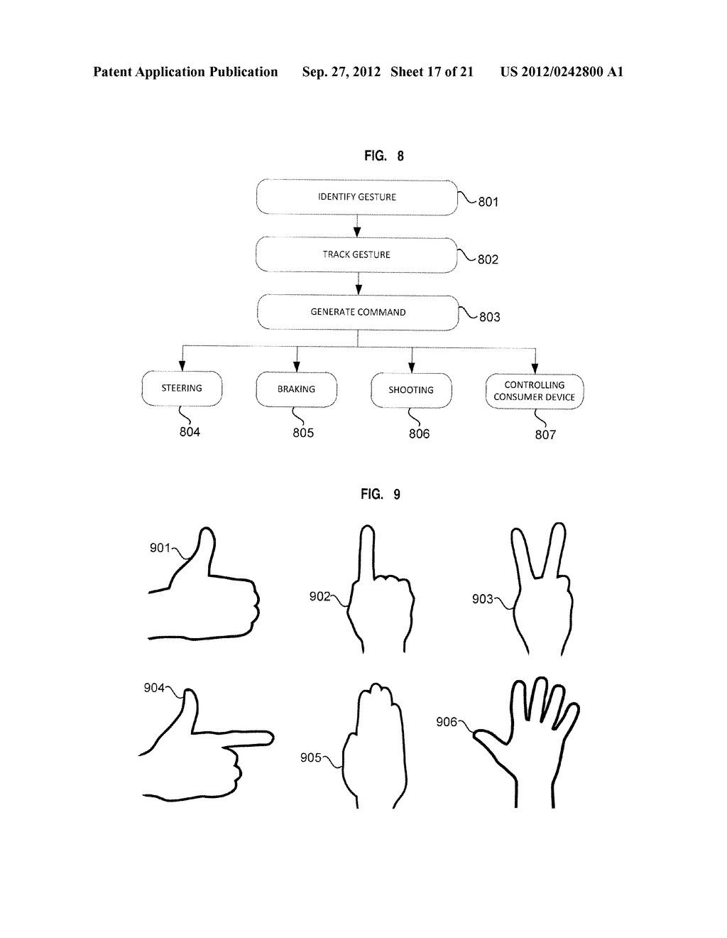 APPARATUS AND SYSTEM FOR INTERFACING WITH COMPUTERS AND OTHER ELECTRONIC     DEVICES THROUGH GESTURES BY USING DEPTH SENSING AND METHODS OF USE - diagram, schematic, and image 18