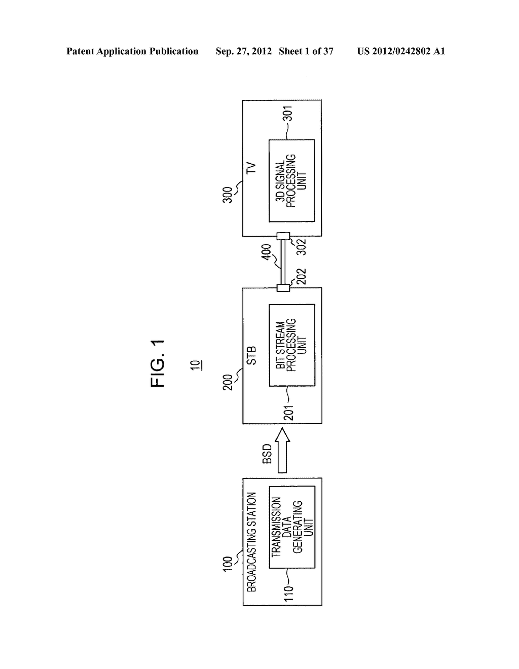 STEREOSCOPIC IMAGE DATA TRANSMISSION DEVICE, STEREOSCOPIC IMAGE DATA     TRANSMISSION METHOD, STEREOSCOPIC IMAGE DATA RECEPTION DEVICE, AND     STEREOSCOPIC IMAGE DATA RECEPTION METHOD - diagram, schematic, and image 02