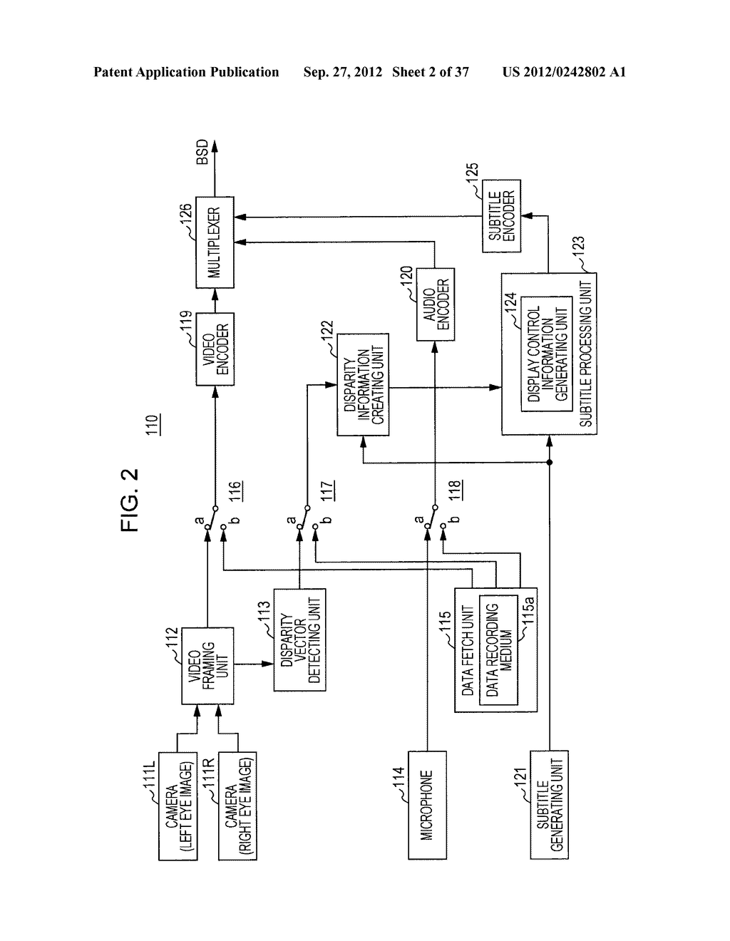 STEREOSCOPIC IMAGE DATA TRANSMISSION DEVICE, STEREOSCOPIC IMAGE DATA     TRANSMISSION METHOD, STEREOSCOPIC IMAGE DATA RECEPTION DEVICE, AND     STEREOSCOPIC IMAGE DATA RECEPTION METHOD - diagram, schematic, and image 03
