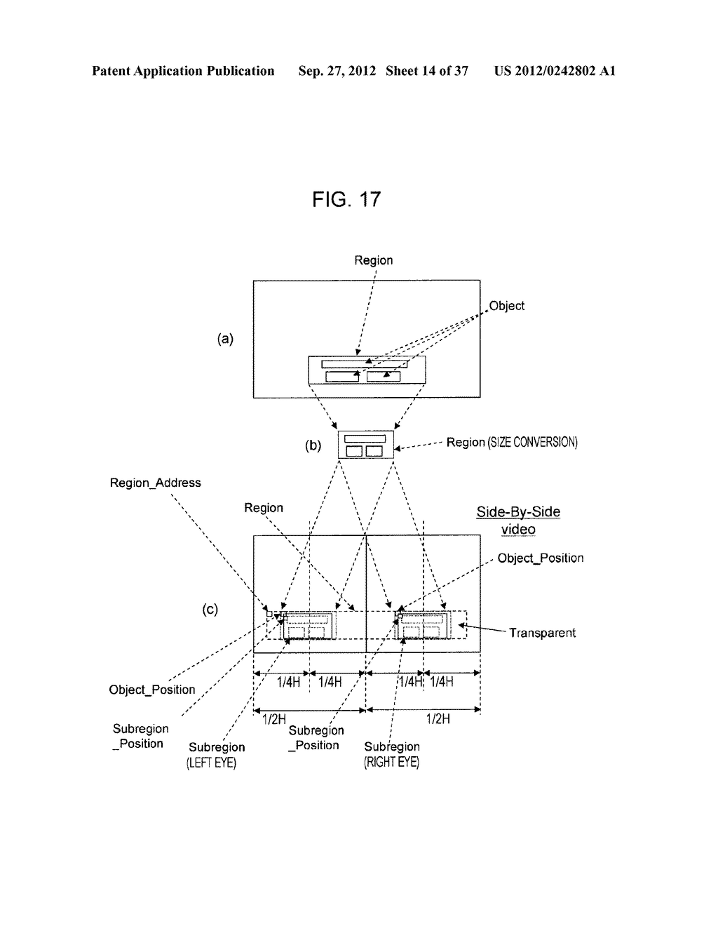 STEREOSCOPIC IMAGE DATA TRANSMISSION DEVICE, STEREOSCOPIC IMAGE DATA     TRANSMISSION METHOD, STEREOSCOPIC IMAGE DATA RECEPTION DEVICE, AND     STEREOSCOPIC IMAGE DATA RECEPTION METHOD - diagram, schematic, and image 15