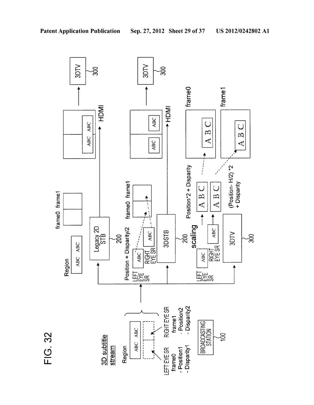 STEREOSCOPIC IMAGE DATA TRANSMISSION DEVICE, STEREOSCOPIC IMAGE DATA     TRANSMISSION METHOD, STEREOSCOPIC IMAGE DATA RECEPTION DEVICE, AND     STEREOSCOPIC IMAGE DATA RECEPTION METHOD - diagram, schematic, and image 30